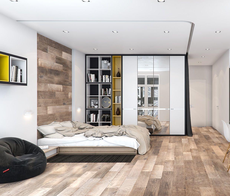 дизайн гостиной спальни 18 квм