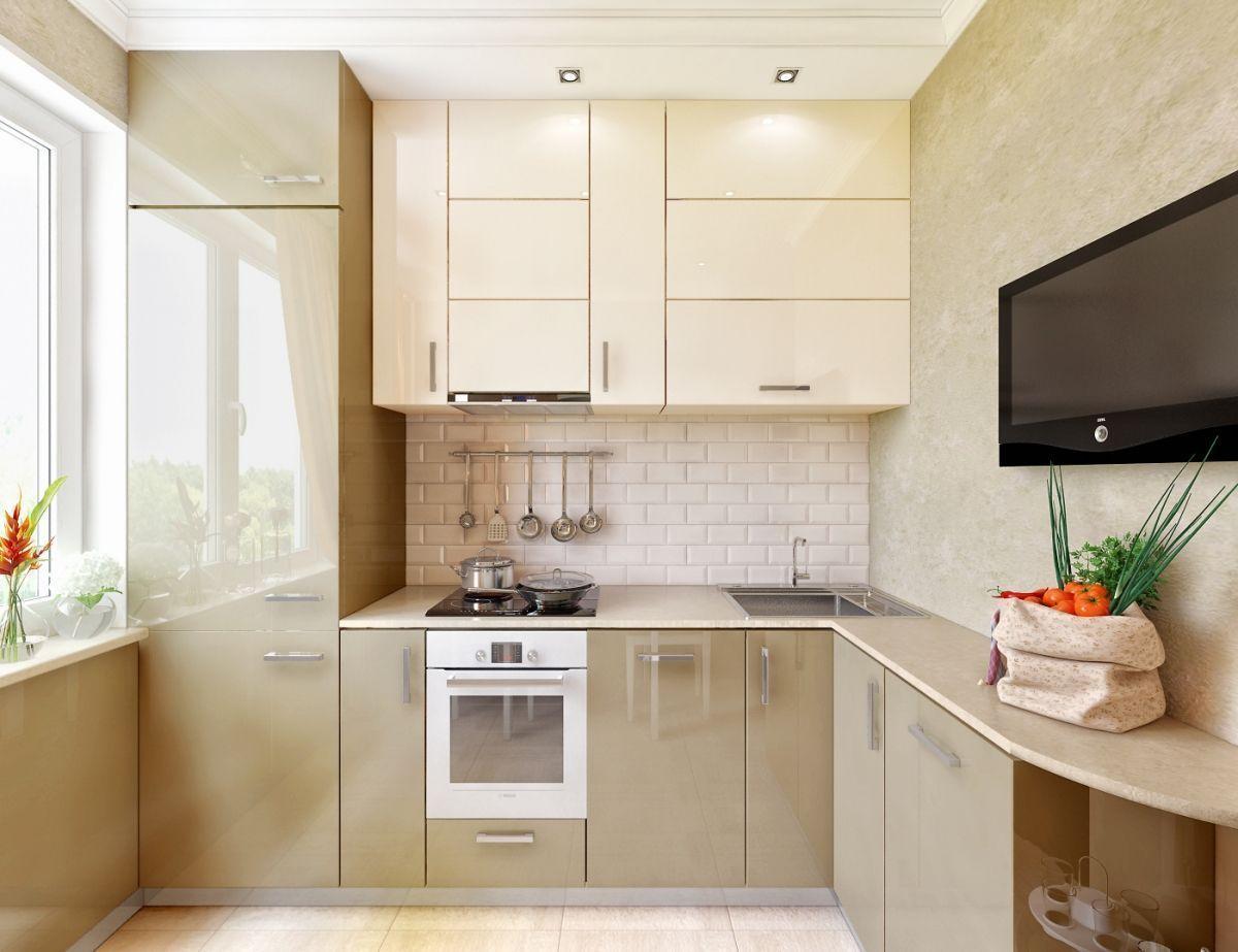 Дизайн маленьких кухонь 6 квадратных метров