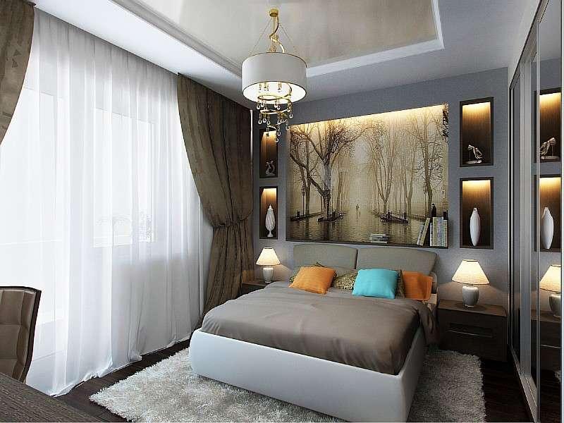 спальня 12 кв.м. дизайн фото
